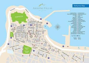 Map - Rethymno city | Points of interest